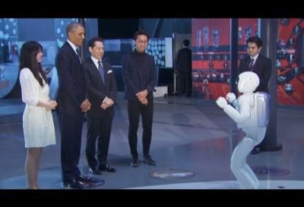 US-Präsident spielt Fussball gegen Roboter ASIMO