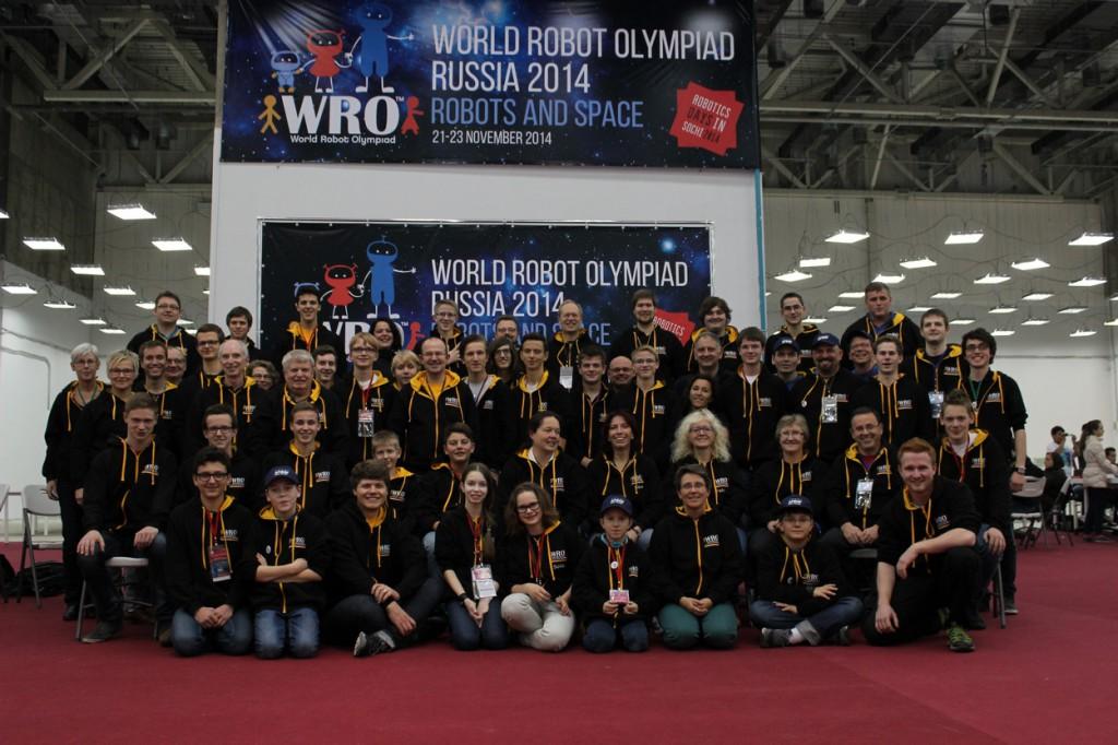 Die deutsche Teilnehmer am WRO-Finale 2014