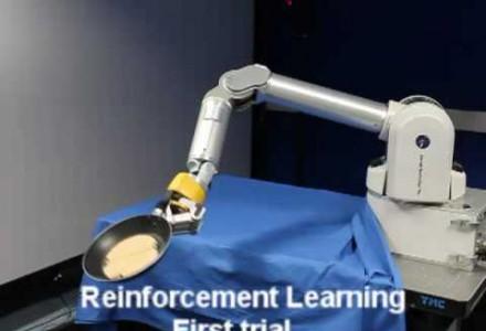 Roboter lernt Pfannkuchen wenden