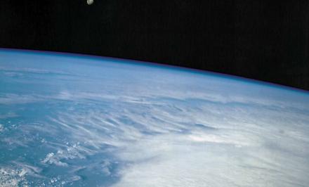 Erde mit Mond