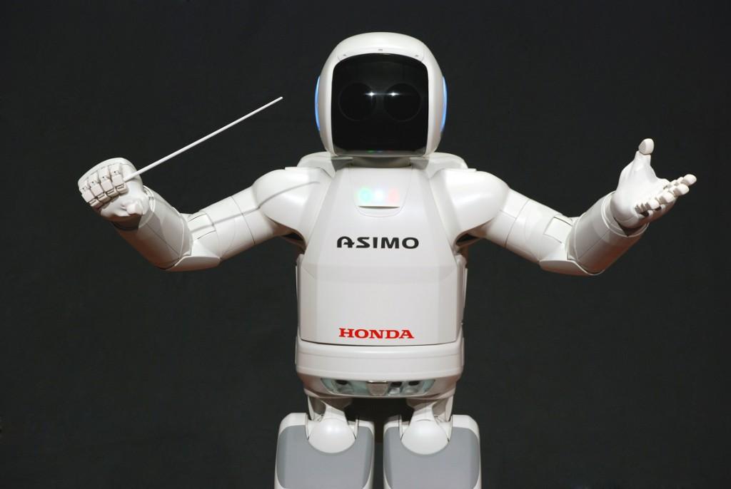 Der humanoide Roboter Asimo von Honda als Dirigent