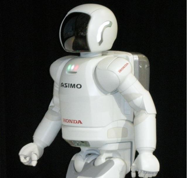 Der Honda ASIMO auf einer Robotermesse.