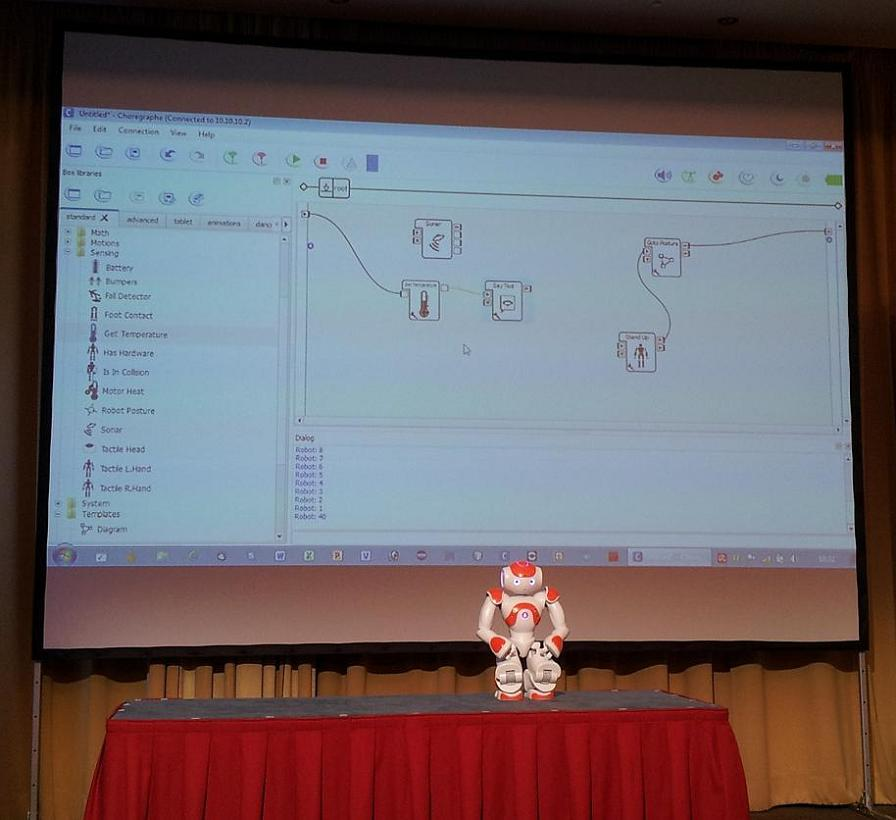 NAO-Roboter mit User-Interface