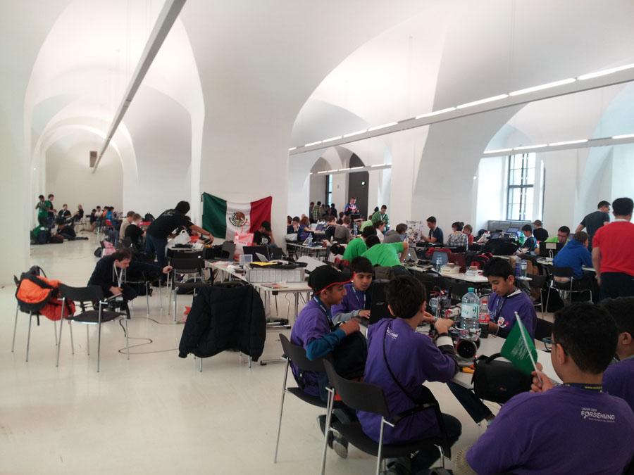 Team-Bereich der RobotChallenge