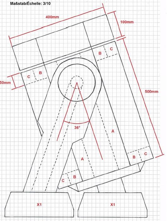 Seitenansicht Skizze Projekt B1