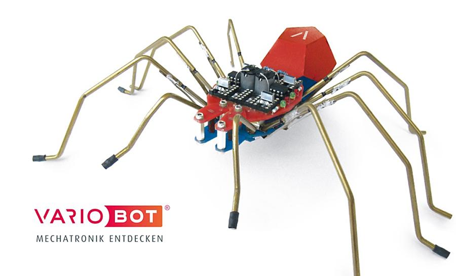 spido die roboter spinne zum selberbauen roboterwelt. Black Bedroom Furniture Sets. Home Design Ideas
