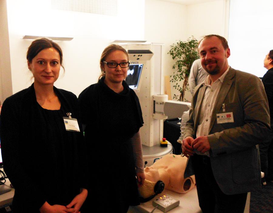 Dr. Stanczyk, Dr. Peer und Dana Neumann (von rechts)
