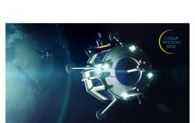 Lunar Mission One - Landungsmodul auf dem Weg zum Mond