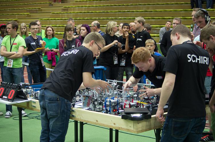 Für die Kategorie Roboterfußball war es eine Premiere beim Deutschlandfinale der WRO. © Roboterwelt