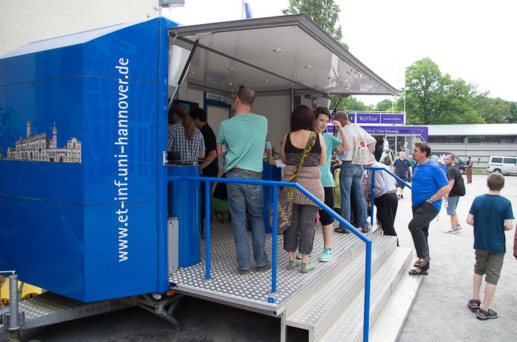 Auch die Universität Hannover ist vertreten.