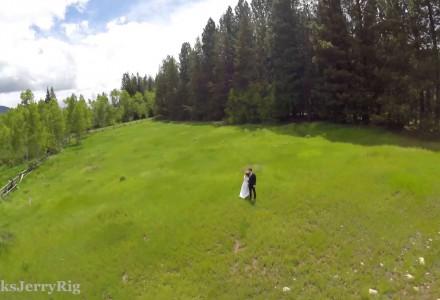 Hochzeitlicher Drohnenabsturz
