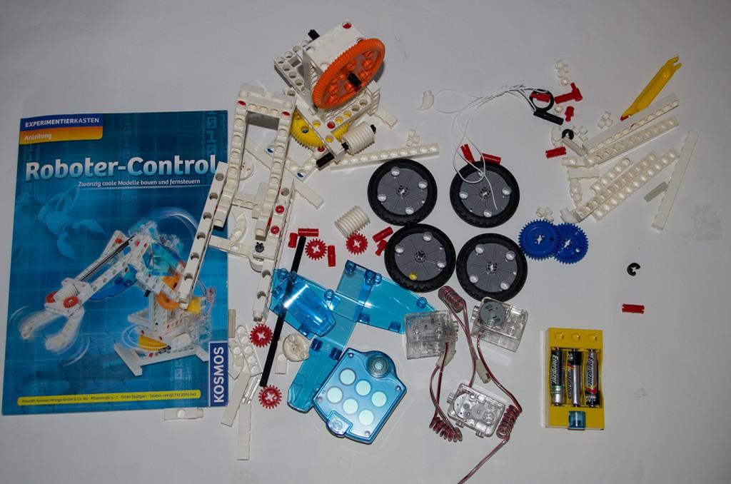 Bauteile des Roboter-Controls