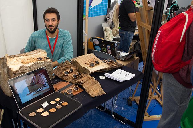 Trend organische Materialien: Sonnenbrillen aus Holz waren nur eines von vielen Projekten.