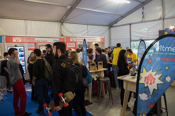 Mehr als 600 Aussteller präsentierten ihre Projekte auf der Maker Faire Rom.