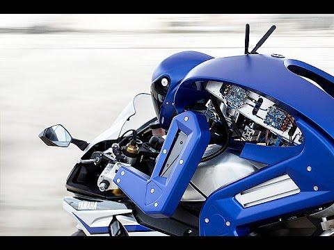Roboter auf dem Motorrad