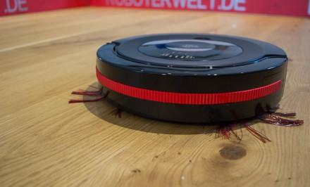 Nur auf Hartböden liefert der Spider ein akzeptables Saugergebnis. © Roboterwelt.de